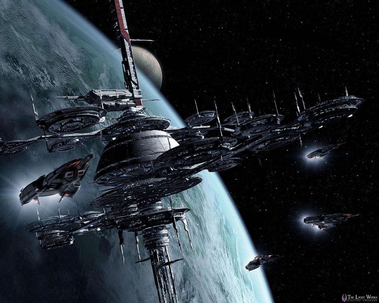 Обои космос корабль Вавилон-5 space ship Babylon 5 картинки на рабочий стол на тему Космос - скачать без смс